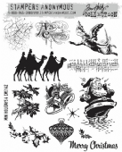 Stampers Anonymous/Tim Holtz - Cling Mount Stamp Set - Mini Holidays 4 – CMS142